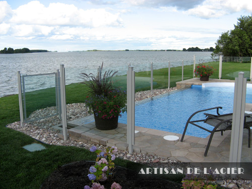 Artisan de l 39 acier inc cl tures portails for Cloture piscine montreal