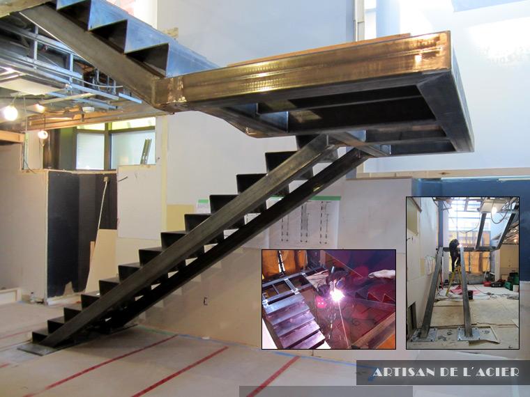 artisan de l 39 acier inc escaliers. Black Bedroom Furniture Sets. Home Design Ideas