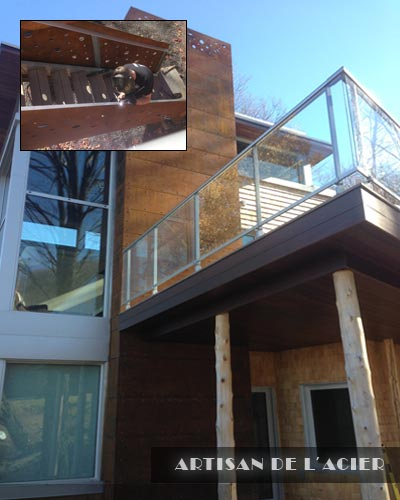 Artisan de l 39 acier inc fer ornemental for Foyer exterieur montreal